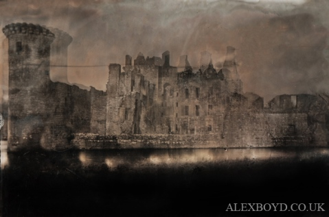Caerlaverock Castle, double exposure